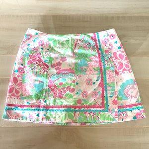 🎃3/$20🎃Lilly Pulitzer Wrap Skirt Animal Print